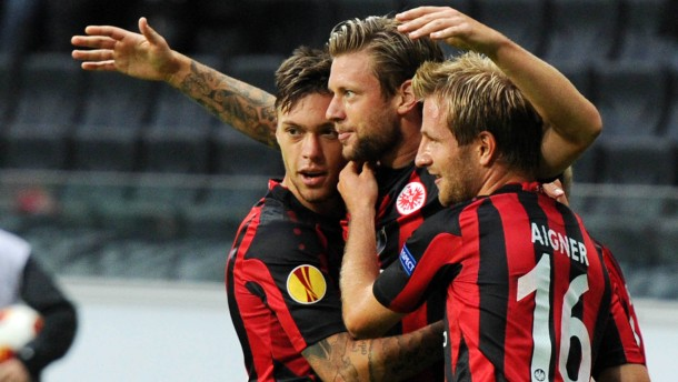 Fußball- Europa-League - Eintracht Frankfurt gegen Girondins Bordeaux im Heimspiel in der Frankfurter Commerzbank-Arena