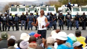 Südafrika geht  gegen Kumpel vor