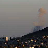 Rauch über der Enklave Kobane an der türkisch-syrischen Grenze