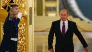 Sehr eigenwilliger Partner, dem nahezu jedes Mittel recht ist, wenn es der russischen Größe dient: Präsident Wladimir Putin im Kreml