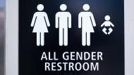 Eine geschlechtsneutrale Toilette am Flughafen San Diego (Archivbild)