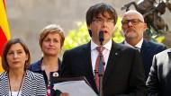 Der katalanische Regionalpräsident Carles Puigdemont kündigte am Freitag in Barcelona das Unabhänigkeits-Referendum an.