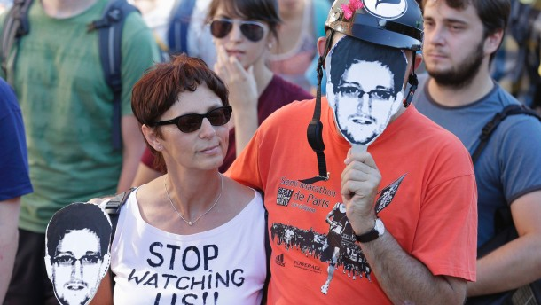 Demonstrators attend protest rally against internet surveillance in Berlin