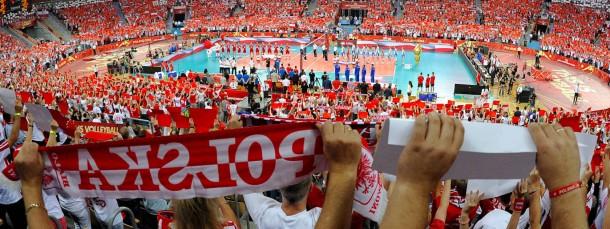 Eine Halle in rot und weiß: 12.000 Polen gegen 50 Deutsche sind zu erwarten