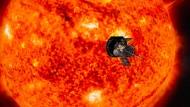 """Bis auf 6,2 Millionen Kilometer wird sich die Raumsonde """"Parker Solar Probe"""" unserem Gestirn nähern."""