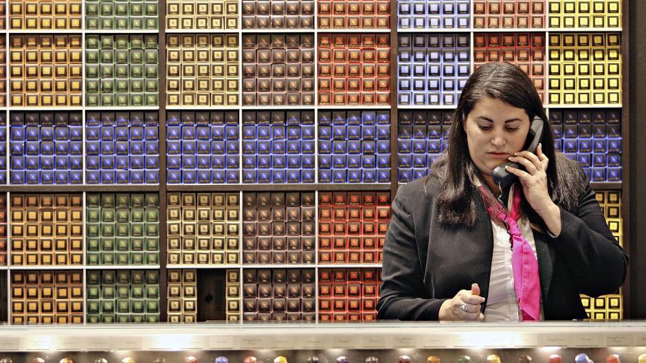 Starke Marke: Teure Kaffeekapseln von Nespresso werden sogar in extra Boutiquen verkauft, wie hier in New York.