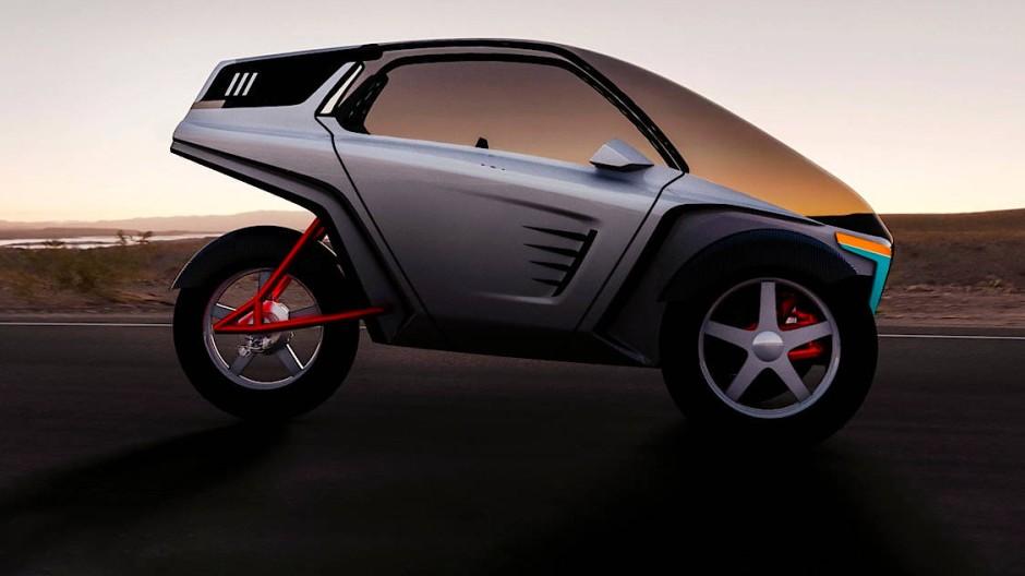 Liegefahrrad mit Elektroantrieb und Flügeltüren wie im Sportwagen: Shark-Bike