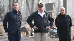 Trump besucht Brandgebiet in Kalifornien
