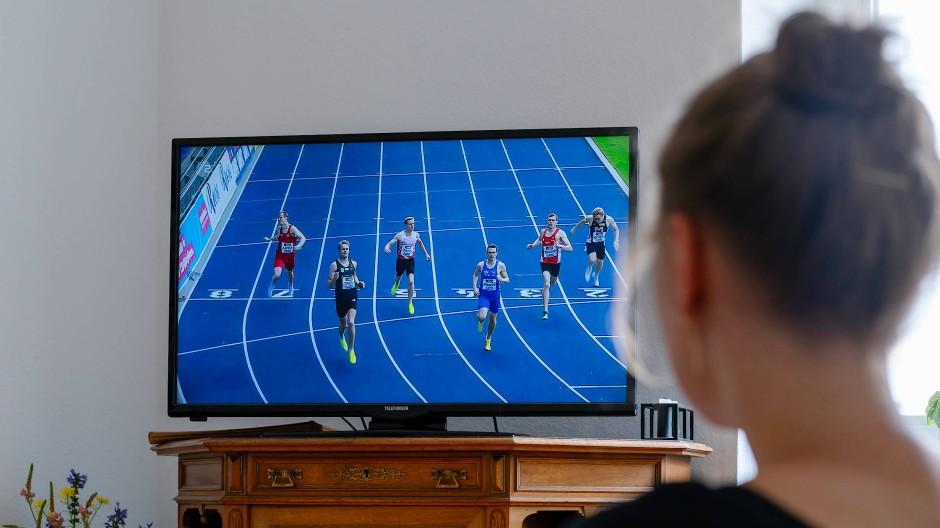 Es geht immer weiter: Ein 400-Meter-Lauf in Braunschweig bei der Deutschen Meisterschaft.