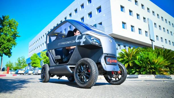 Ein faltbares E-Auto gegen den Parkplatzmangel
