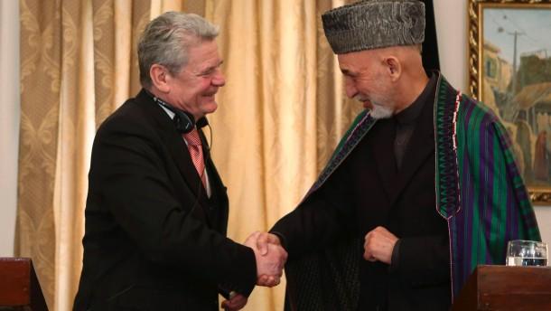 Karzai und Gauck
