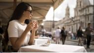 Nicht nur für Touristen: Café an der Piazza Navona in Rom.