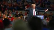 Auftritt in West Virginia: Donald Trump macht auch ohne Gegenkandidaten weiter Vorwahlkampf