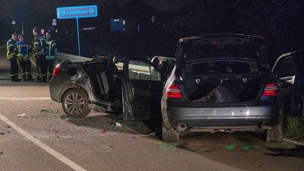 Vier Tote bei Verkehrsunfall nahe der Grenze zu Frankreich