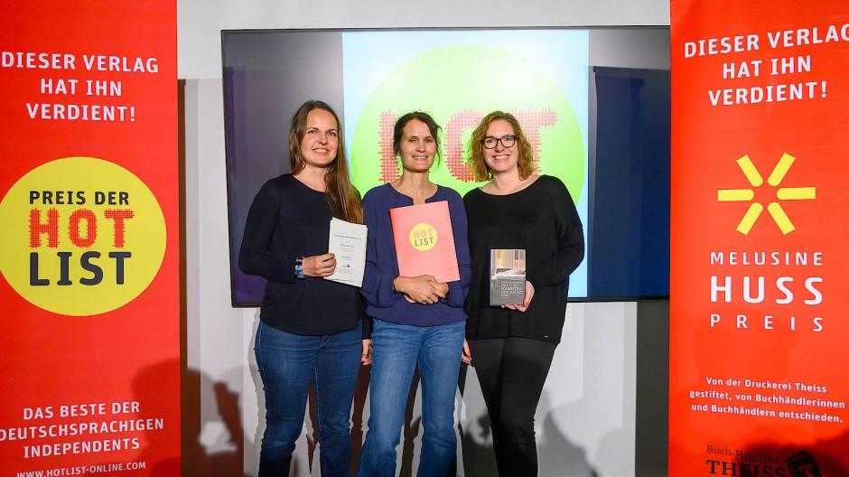 Preisdopplung bei der Edition Nautilus: Katharina Florian, Katharina Picandet und Franziska Otto