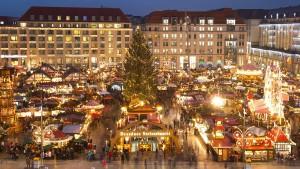 Auf Dresdens Weihnachtsmarkt gibt es kein Pegida