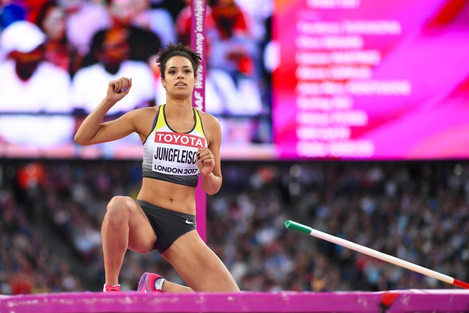 Hochspringerin Marie-Laurence Jungfleisch überstand mit 1,92 Metern im dritten Versuch die Ausscheidung.