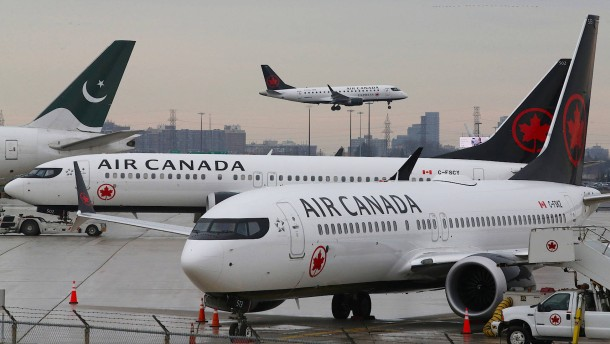 Air Canada kassiert wegen Boeing-Flugverbot Gewinnziel