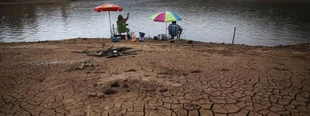 Ausgetrocknet: Mehr als neunzig Prozent der Wasserreserven im Cantareira-Reservoir bei São Paulo sind aufgebraucht.