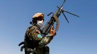 Ein afghanischer Soldat in Kabul
