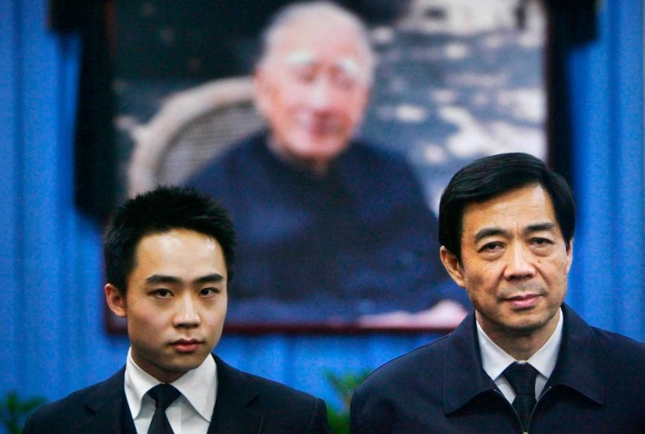 Bo Xilai (rechts) zusammen mit seinem Sohn Guagua