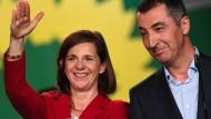 Cem Özdemir und Katrin Göring-Eckardt stehen vor schweren Verhandlungen mit der Union und der FDP