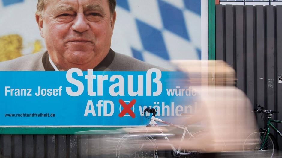 Ein Wahlplakat der AfD vor der Bundestagswahl 2017 in München