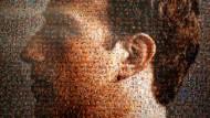 Mark Zuckerbergs Gesicht, von der chinesischen Künstlerin Zhu Jia zusammengesetzt aus Fotos von vielen Gesichtern.