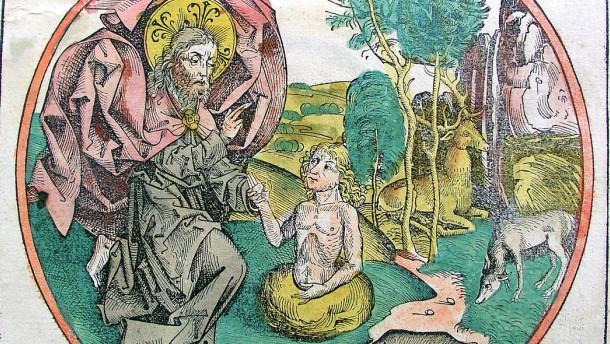 AT: Erschaffung Adams - Schedelsche Weltchronik 1493