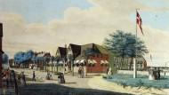 In diesem eigens angekauften und nach hinten erweiterten Haus zu Beginn des Sandwalls logierte der dänische König mit seinem Hofstaat.