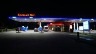 Die Tankstelle der Rastanlage Spessart Süd