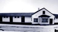 Ein schlichter Bau der Sachlichkeit: das ehemalige Gebäude der Raiffeisen Genossenschaft in Nidderau-Erbstadt