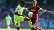 Kaum Chancen in der ersten Hälfte der Partie Freiburg gegen Mainz.