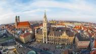 Die Innenstadt von Bayerns Landeshauptstadt München.