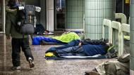 Winterlager: Zu den Obdachlosen, die jedes Jahr während der kalten Jahreszeit in der B-Ebene übernachten können, kommen in diesem Jahr die Roma hinzu.