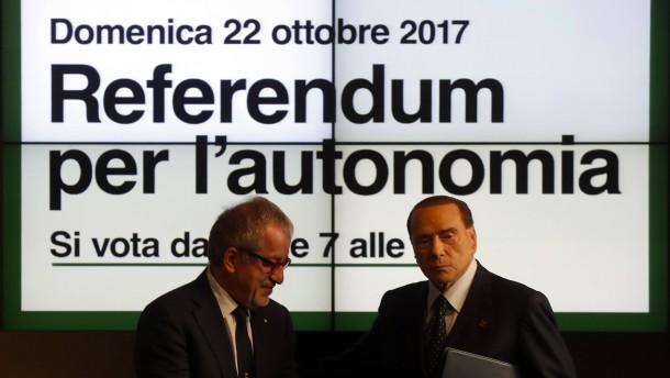 Italiens Norden will mehr Autonomie