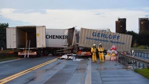 A5 nahe Butzbach nach Gefahrgutunfall gesperrt