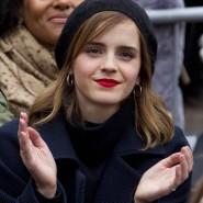 """Trump beklagt sich über demonstrierende Prominente: die Schauspielerin Emma Watson beim """"Womens March"""" am Samstag in Washington."""