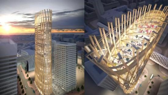 Klimaschutz mit Holz-Hochhäusern