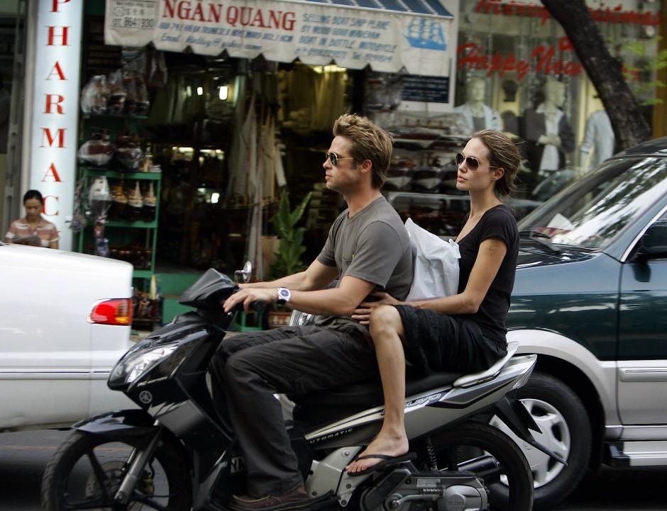 Das waren noch Zeiten: Pitt und Jolie gemeinsam 2006 im Vietnam.
