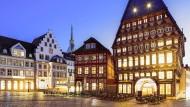 Das Bäckeramtshaus und das Knochenhaueramtshaus am Marktplatz