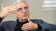 Paul Achleitner in seinem Privatbüro in München im Gespräch mit der Frankfurter Allgemeinen Sonntagszeitung am 14. Dezember 2018.