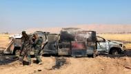 Kampfspuren in der Nähe von Mossul
