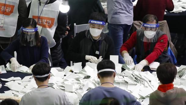Überwältigender Wahlsieg für Regierungspartei in Südkorea