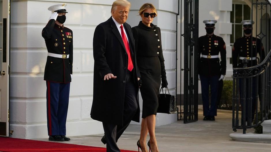 Donald und Melania Trump am vorigen Mittwoch in Washington