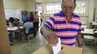 Abstimmung in San Juan, Puerto Rico