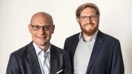 Johannes Homa und Johannes Benedikt sind die Gründer des Start-ups Lithoz.