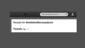 Als Twitter zwei Stunden ausfiel...