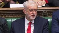 Der Parteichef der oppositionellen Labour-Partei, Jeremy Corbyn, während der parlamentarischen Fragestunde am 19. Dezember