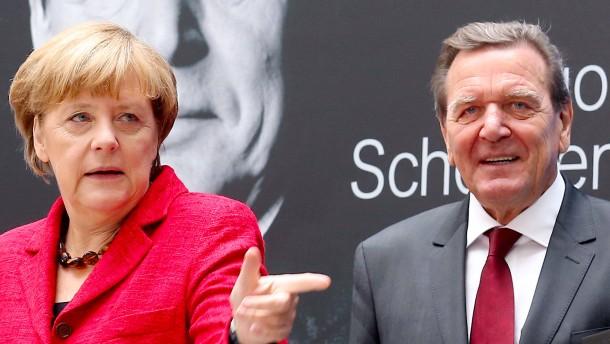 Merkels Schröder-Moment